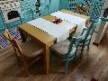 Set masa Roxana extensibila cu scaune MD470