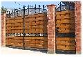 Poarta din Fier Forjat placata cu lemn