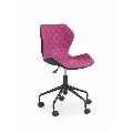 Scaun birou copii HM Matrix negru - roz