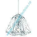 Pendul Geometric Cage 7271CC crom finisat E27 60W