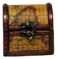 Cufar de lemn cu model de harta veche