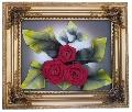Tablou cu trandafiri rosii din piele