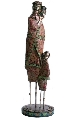 Statueta femeie africana cu copil