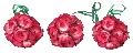 Set 3 globuri rosii