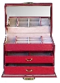 Caseta rosie de bijuterii cadouri femei