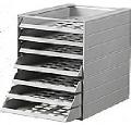 Cutii de arhivare cu 7 tavite pentru interiorul dulapului Ideal Standard