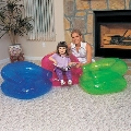 Scaun gonflabil transparent pentru copii Bestway (76 x 76 cm)