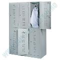 Vestiar metalic gri, 6 usi, 118.5 x 50 x 194.5 cm