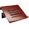 Suport notebook Rolodex din lemn maro