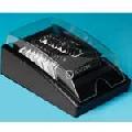Fisier liniar din lemn negru cu tavita si capac Rolodex 300 carduri