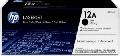 TONER ORIGINAL PENTRU HP NEGRU DUAL PACK 12A Q2612AD