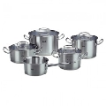 Set de oale din inox Fissler, 9 piese, seria Original Profi Collection, inductie, capac