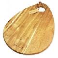 Tocator din lemn de salcam Kassel, inel pentru agatare din piele