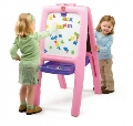 Tabla dubla pentru copii Easel for Two Step 2, Roz