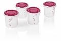 Set 4 recipiente plastic Miniland, Pink