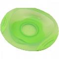 Farfurie cu ventuza si contur moale R0542 Primii Pasi, Verde
