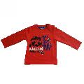 Tricou rosu cu maneca lunga si imprimeu Losan, 9 luni