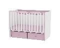 Patut balansoar din lemn 120 x 60 cm Matrix Lorelli, White and Pink
