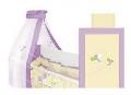 Lenjerie de pat Lily cu broderie 120 x 60 cm Lorelli, Dragonfly Violet