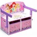 Mobilier 2 in 1 pentru depozitare jucarii Disney Delta Children, Princess