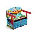 Mobilier 2 in 1 pentru depozitare jucarii Disney Delta Children, Mickey Mouse