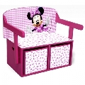 Mobilier 2 in 1 pentru depozitare jucarii Disney Delta Children, Minnie Mouse
