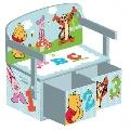 Mobilier 2 in 1 pentru depozitare jucarii Disney Delta Children, Winnie the Pooh