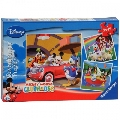Puzzle Clubul Mickey Mouse 3 x 49 Piese Ravensburger,