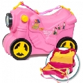Valiza Ride-on Masinuta Deluxe 3 in 1 Molto, Roz