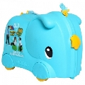 Valiza Ride-on Elephant 3 in 1 Molto, Albastru