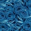 Elastice gama Metalic Rainbow Loom, Albastru
