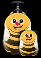 Set Valiza tip trolley si ghiozdan Cutie and Pals, Cazbi the Bee
