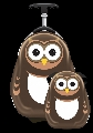 Set Valiza tip trolley si ghiozdan Cutie and Pals, Pipi the Owl