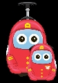 Set Valiza tip trolley si ghiozdan Cutie and Pals, Uniform Cutie Fireman