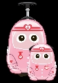 Set Valiza tip trolley si ghiozdan Cutie and Pals, Uniform Cutie Nurse