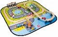 Circuit din lemn cu trenulet si masinute Giant City House of Toys,