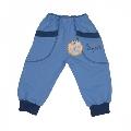 Pantalon model 8 cu manseta A01 Bleu Pifou, 2 ani