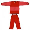 Costum 18-24 luni model 21 catifea Pifou, B08 Rosu caramiziu