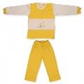 Costum 18-24 luni model 21 catifea Pifou, B03 Galben