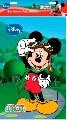Plansa pictura nisip mare Disney, Mickey cu Ochelari