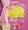 Sticker Decorativ pentru camere copii Princess Land Wallies,