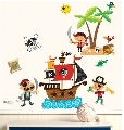 Sticker Decorativ pentru camere copii Pirates Wallies,