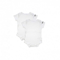 Set Body Waterproof alb Dribble Stop, 0-3 luni