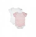 Set Body Waterproof alb-roz Dribble Stop, 9-12 luni