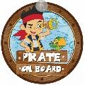 Semn de avertizare Baby on Board Disney Eurasia, Pirate Jake