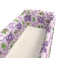 Aparatori laterale pentru pat Maxi 120 x 60 cm Deseda, Broscute Violet