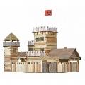 Set constructie din lemn cu lipici Castel Walachia,