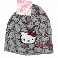 Caciula tricotata Hello Kitty gri Disney, 54 cm (8-11 ani)