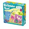 Joc educativ Elefantelul Vesel - Forme, Culori, Fructe si Legume D-Toys,