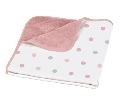 Paturica cu 2 fete 75 x 75 cm Pop Delta Baby, Pastel Pink